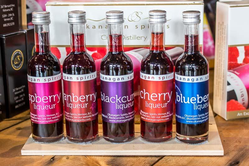 Okanagan Spirits liqueur samplers