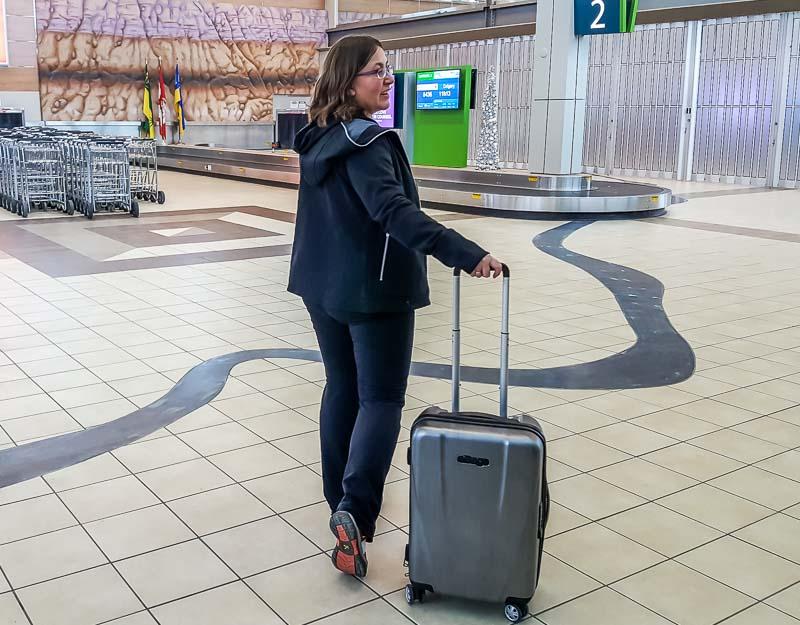 SCOTTeVEST Chloe hoodie in airport