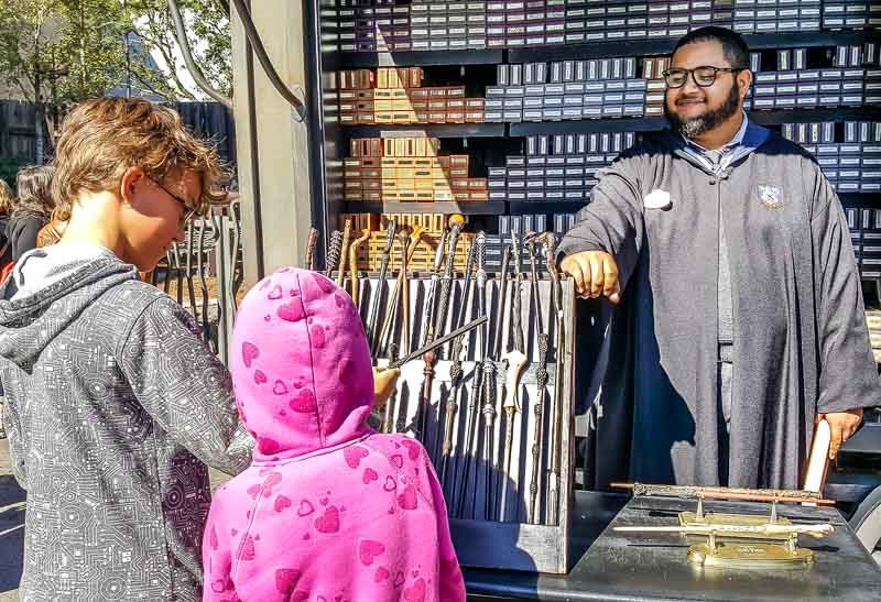 The Wizarding World of Harry Potter wand cart