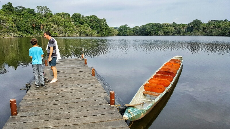 At the dock at La Selva