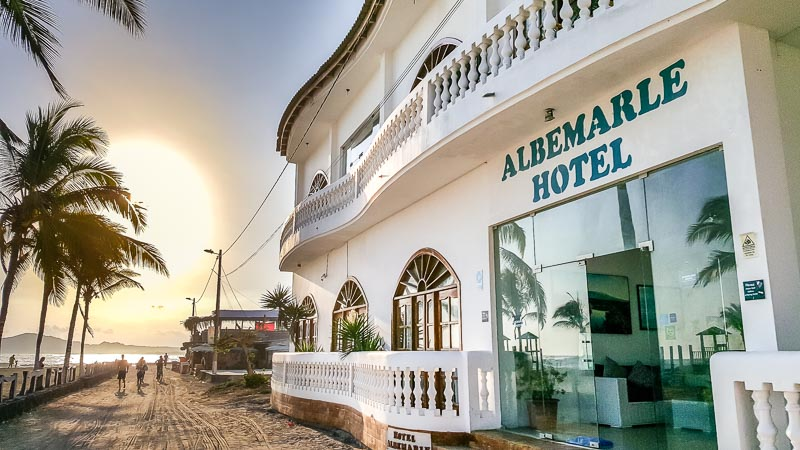 Albemarle Hotel on Isabela Island Galapagos
