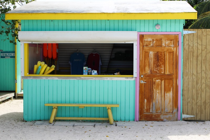 Anguilla beach shack
