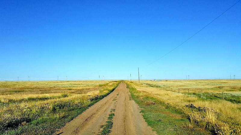 Dirt road in Saskatchewan