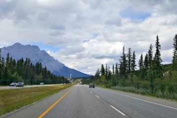 Driving through the Canadian Rockies