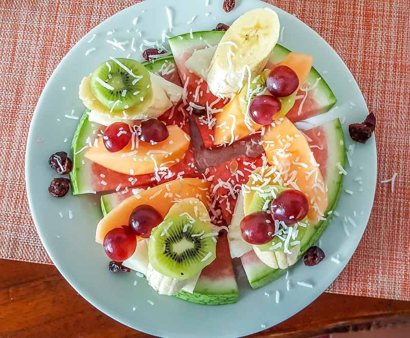 Fresh Fruit at the Hotel Albemarle Isabela Island Ecuador