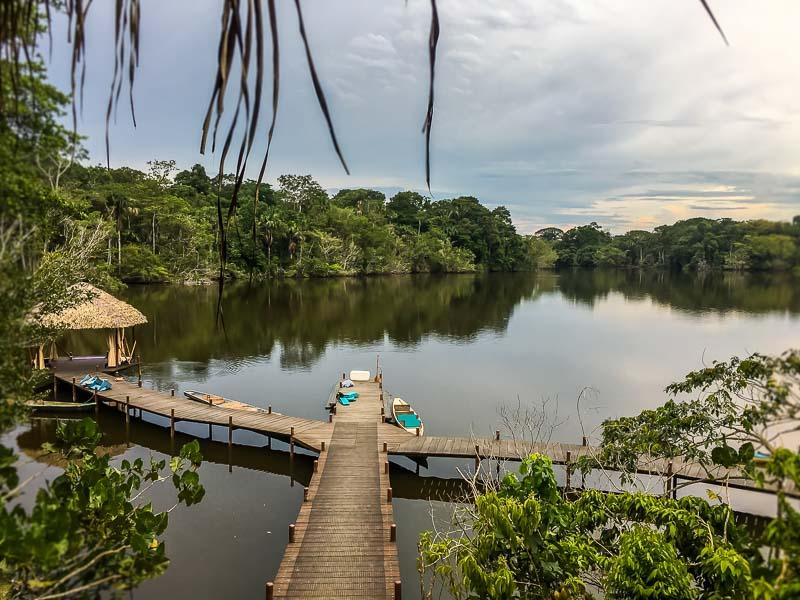 dock at La Selva Lodge