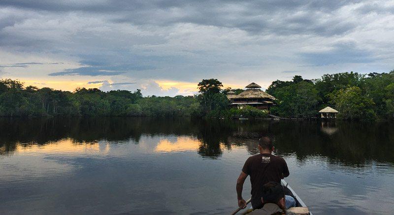 Canoeing at sunset at la Selva