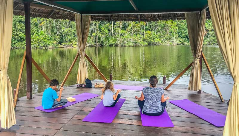 Family Yoga at La Selva Lodge Amazon Ecuador