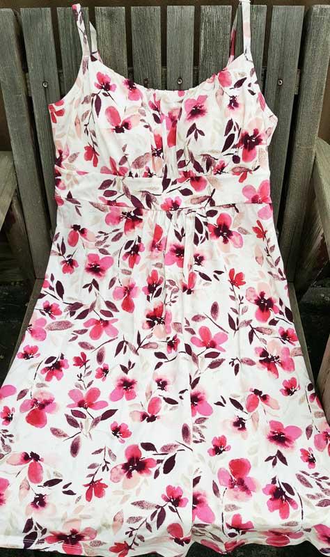 Marks Denver Hayes Floral Adjustable Rouched Dress