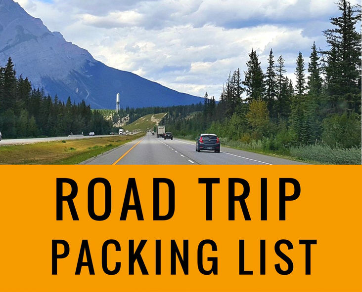 The road trip packing list | road trip essentials checklist | Road Trip essentials | Printables | Packing List | Checklist