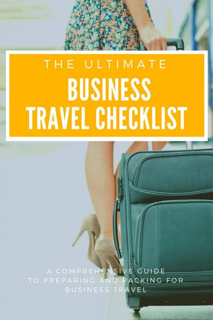 the ultimate business travel checklist
