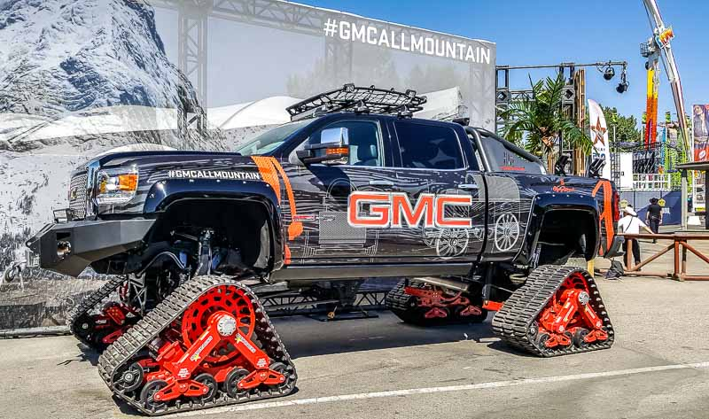 GMC All Mountain truck at the Calgary Stampede Midway