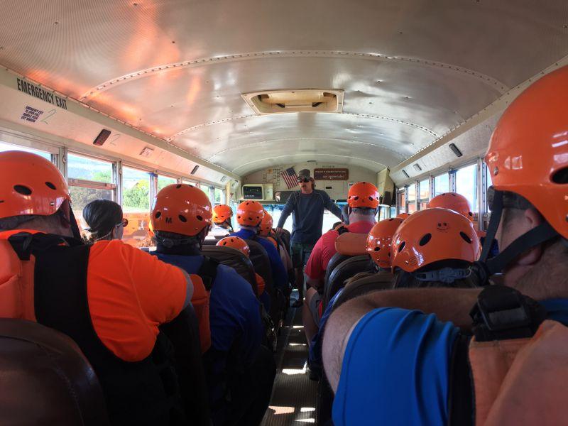 On the Bus to Raft Arkanasas River in Colorado