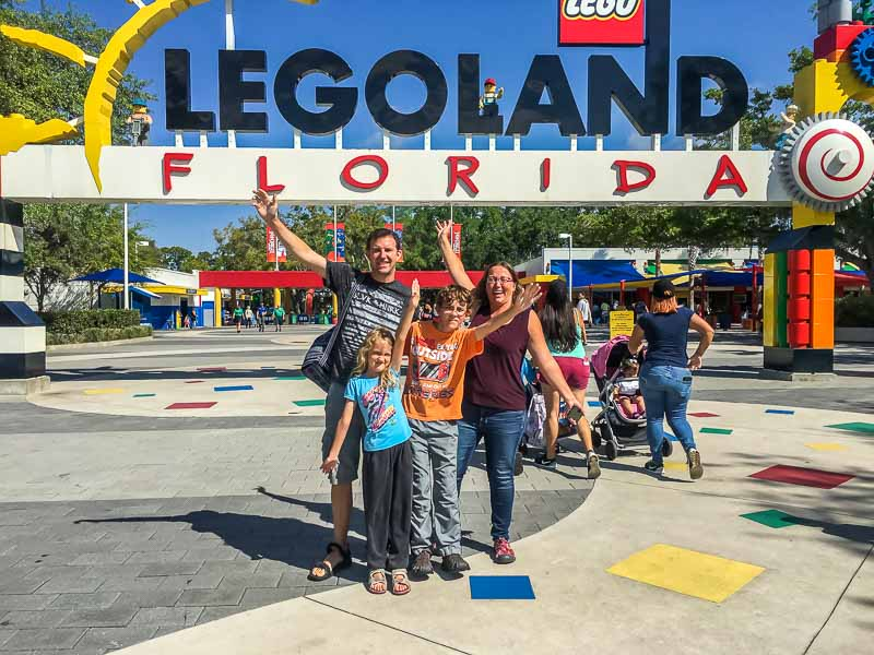 LEGOLAND entrance family photo
