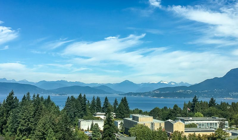 The view at UBC