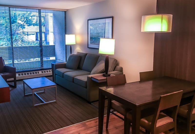 West Coast Suites UBC living area