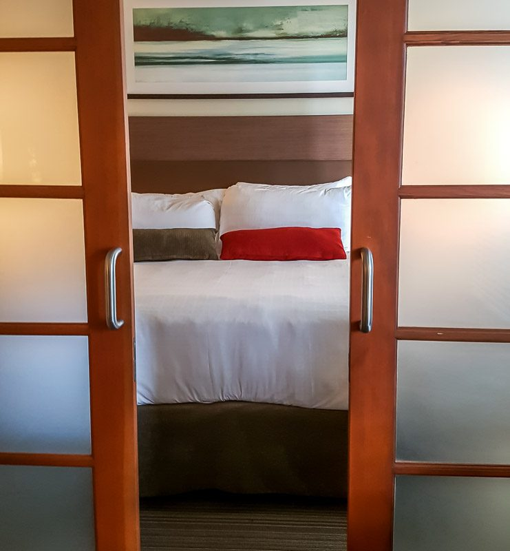 View of bedroom at West Coast Suites UBC