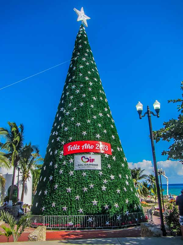 Christmas in Playa del Carmen Mexico