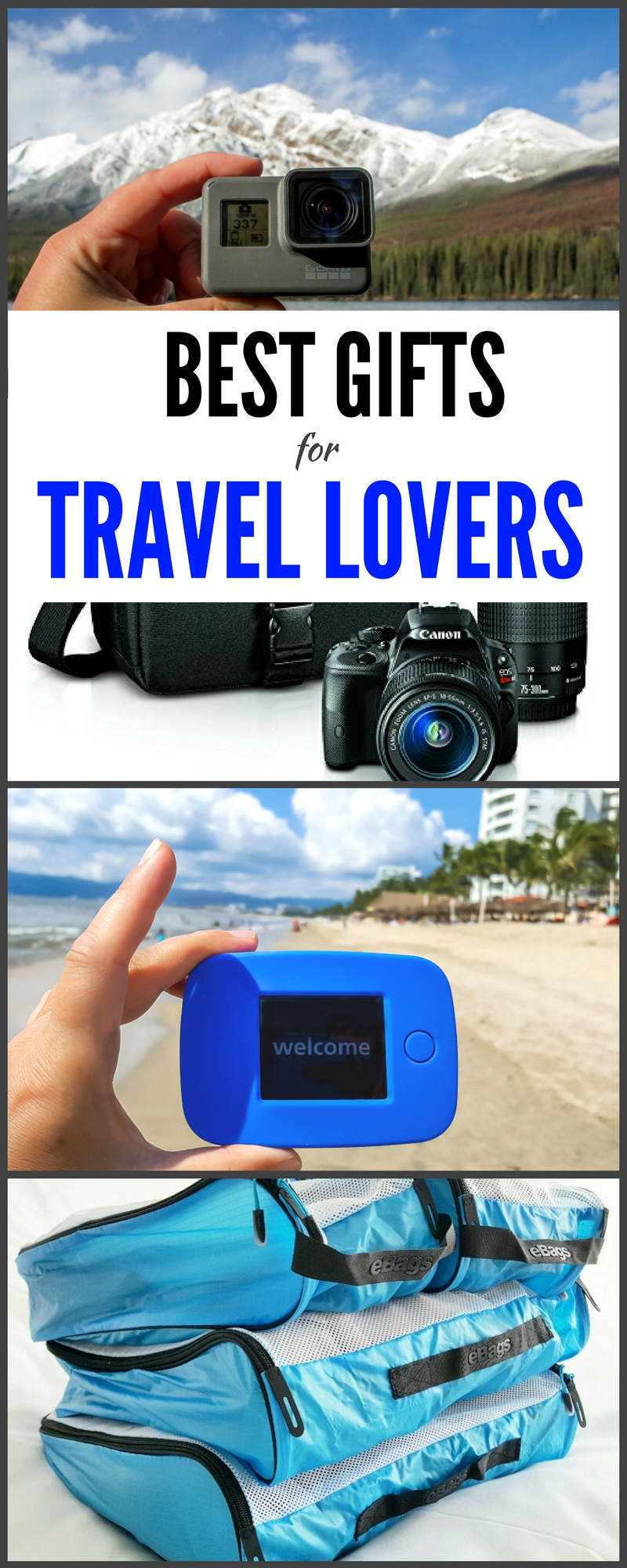 Best gifts for travel lovers #travel #gifts #traveling