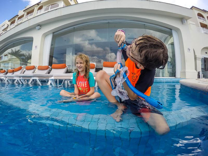 Family pool fun taken with GoPro HERO6 Black