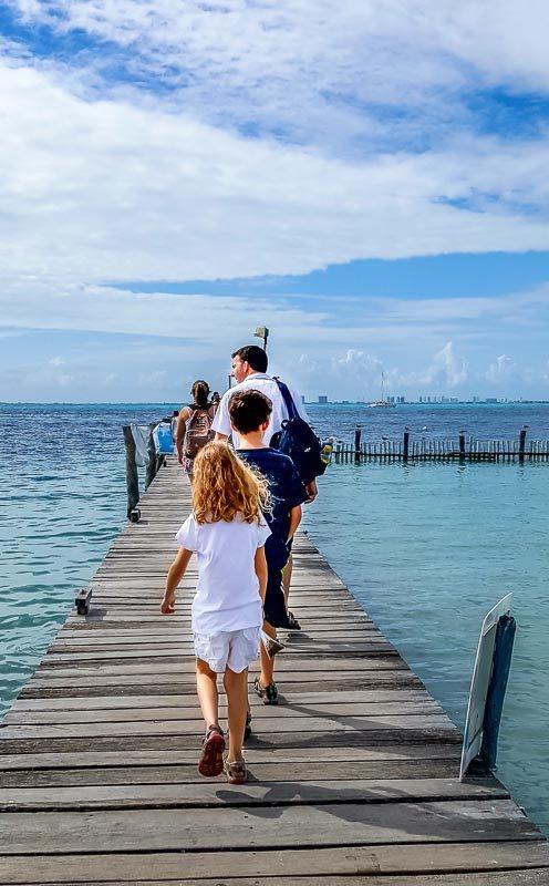 Isla Mujeres Mexico pier