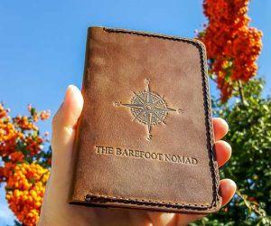 JooJoobs leather passport holder front berries
