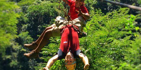 Zip lining fun