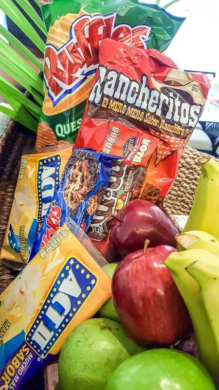 snack basket at hotel