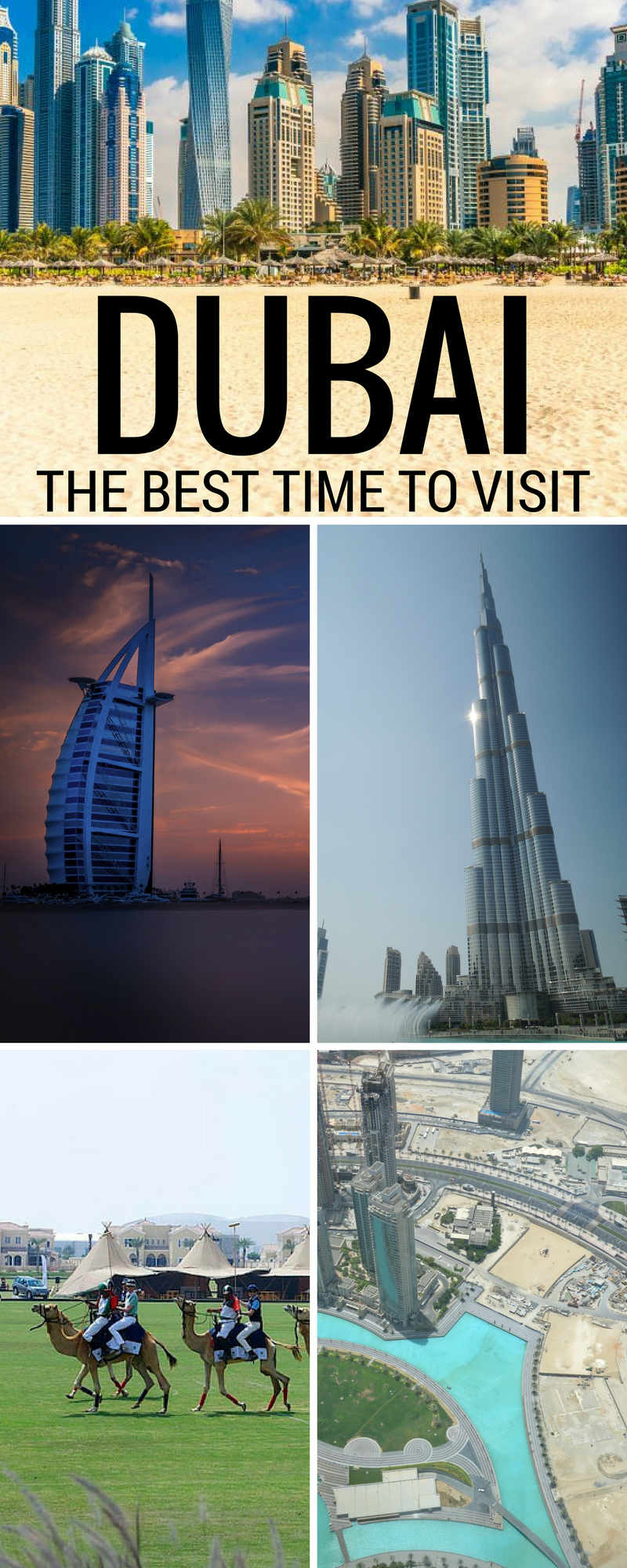 The Best Time to Visit Dubai Since air condition is rampant throughout the city, and people do live there year round, it's definitely accessible for most of the year however, if you really want to enjoy your trip, the best time to visit Dubai is from early November to late March.