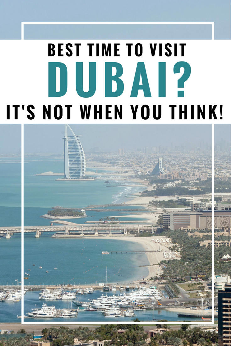 When should i visit Dubai As such, the only drawback to visiting Dubai in the winter is that it also coincides with their busiest season. With that kind of weather and so many unique things to do in Dubai, it's no wonder everyone wants to visit during winter.