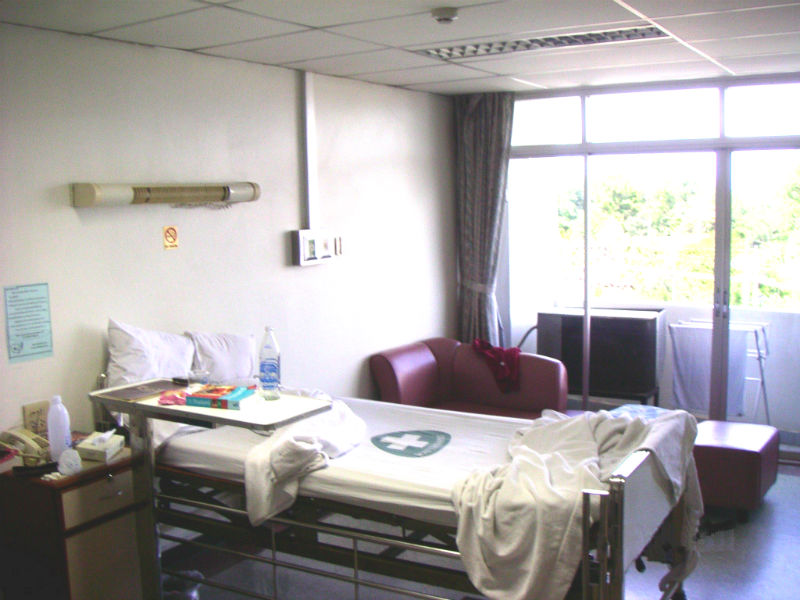 Hospital room in Trang Thailand 2003