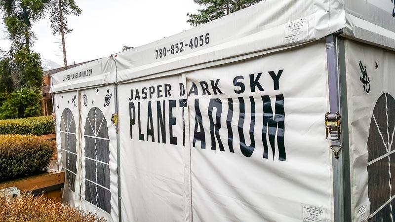 Planetarium at Jasper Alberta Canada Dark Sky Festival