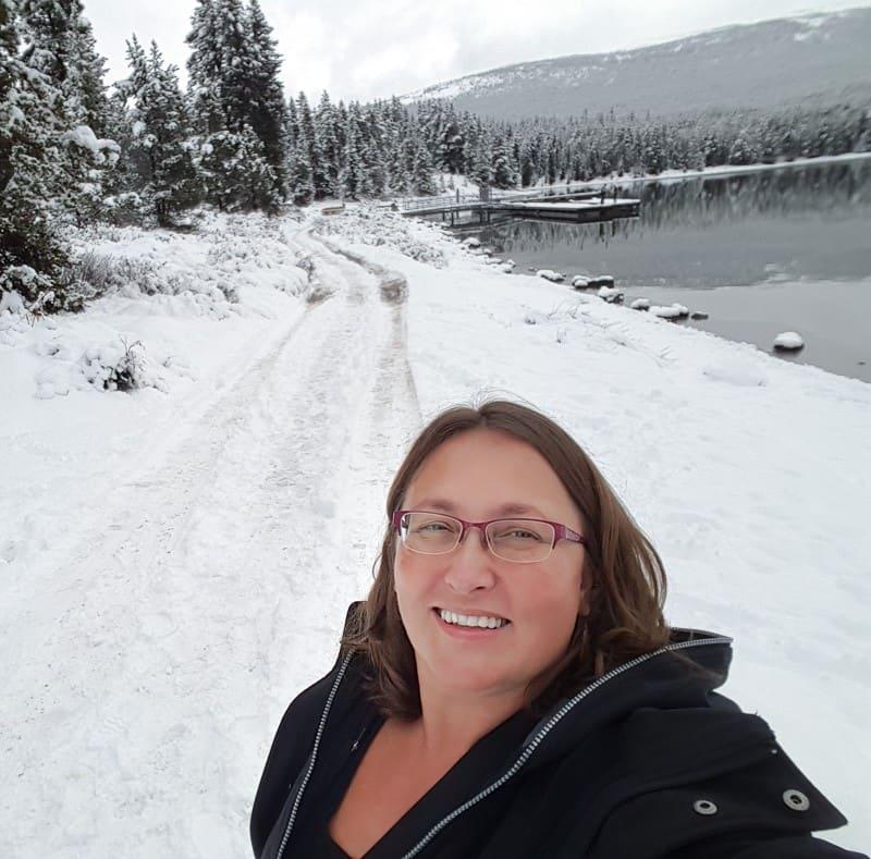 Jasper Alberta Canada Maligne Lake in the winter