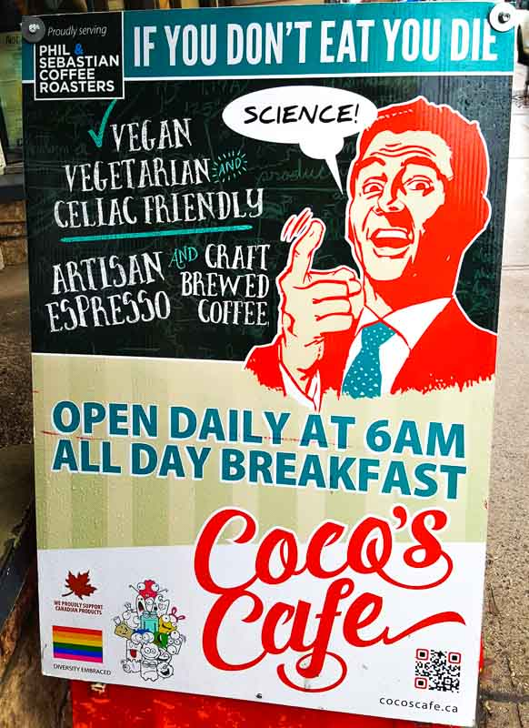 Jasper Cocos Cafe sign