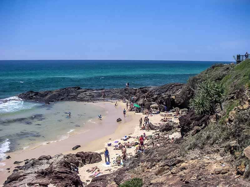 Tidal pool and beach on Fraser Island