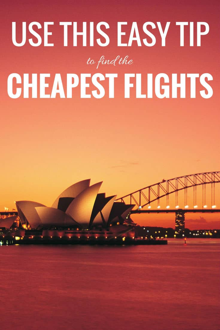Use this one easy tip to find the cheapest flight. Booking cheap flights can be really easy if you know the tips and tricks. It can be exhausting to constantly by scanning airlines and booking sites for the best deals, so I've learned to let someone else do the work. Read to learn my secret. | How to find cheap flights | airfare deals | airfare cheap plane tickets | cheapest flight | Cheapest flights airline tickets | cheap airline tickets | #travel #traveltips #deals #flights #vacationtips