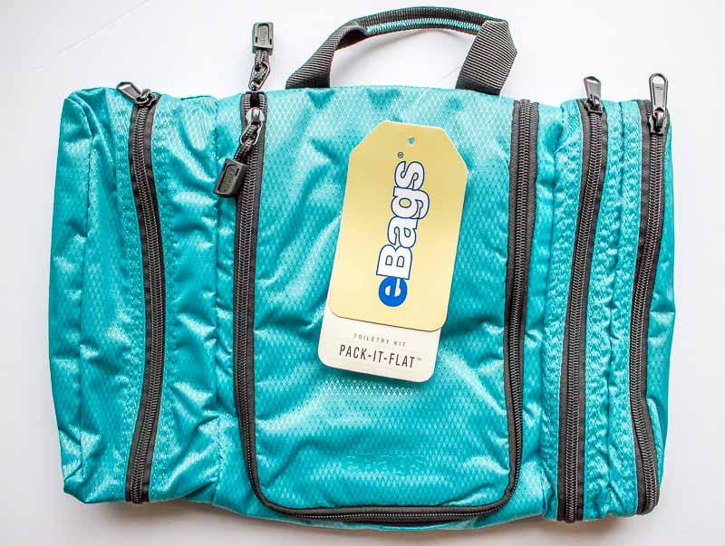 eBags Pack it flat Toiletry kit closed