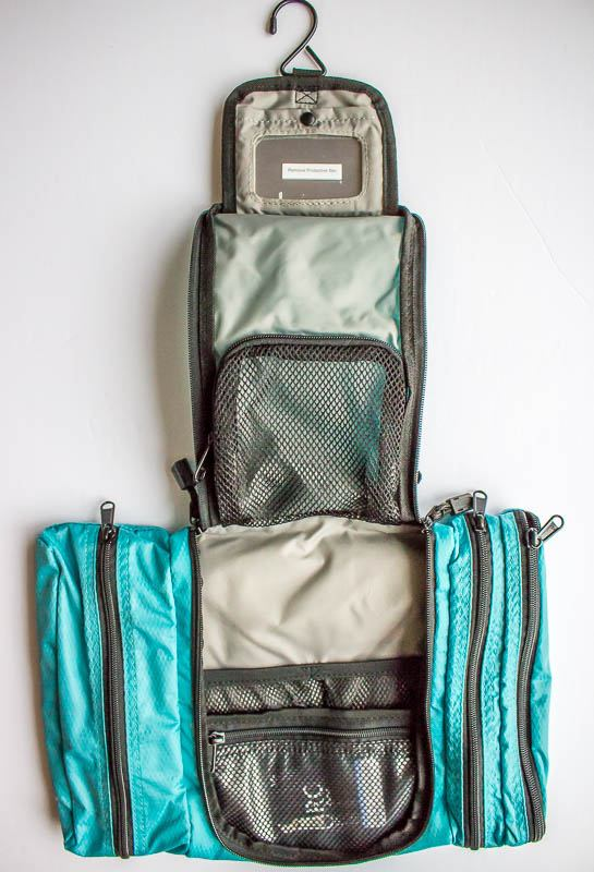eBags Pack-it-flat Toiletry Kit opened