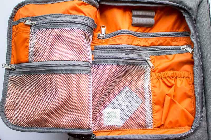 inside front pocket of eBags Professional Slim Laptop Backpack