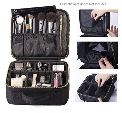 ROWNYEON Mini Makeup Train Case Makeup Organizer Bag Review
