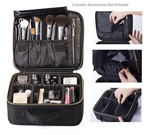 ROWNYEON Mini Makeup Train Case Makeup Organizer Bag Review