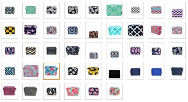 N Gil womens cosmetic travel bag colors