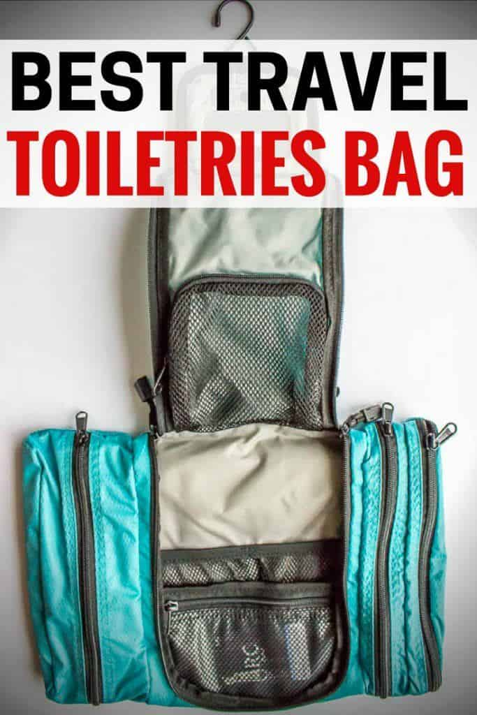 Best travel toiletries bag. Whether you're looking for a stylish women's travel cosmetics bag, a men's shaving Dopp bag, or a lightweight backpacking toiletry kit, we have a great recommendation. | travel toiletries bag | best travel toiletries bag | travel toiletries bag for men | best travel cosmetics case | travel cosmetics bag | cute toiletries bag | large toiletires bag | small travel toiletries bag | hanging toiletries bag | travel toiletries Dopp kit | travel toiletries bag Christmas gift | toiletries bag for trips or vacation | cute toiltries bag | clear toiletries bag #travel #traveltips #packingtips #packing