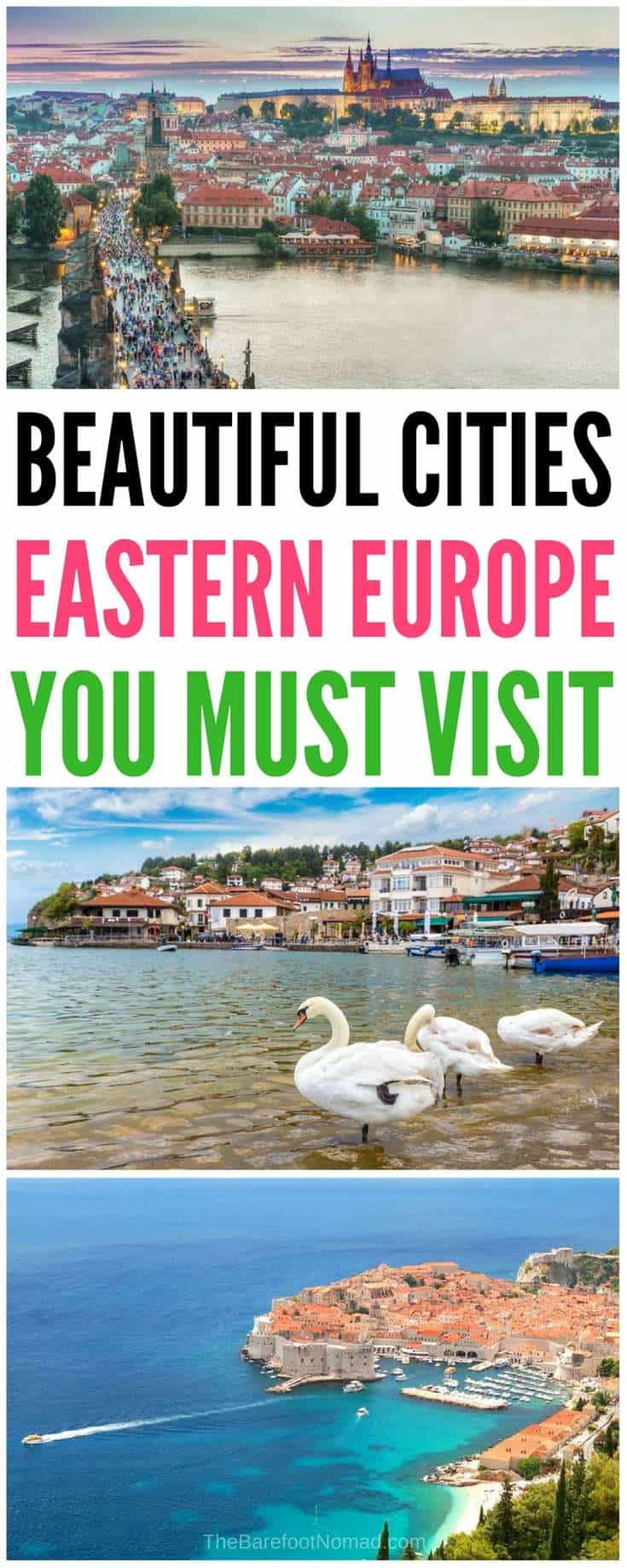 10 of the most beautiful cities in Eastern Europe. Have you always wanted to visit the beautiful cities in Europe? Here are our tips for the cities in Europe you need to visit as soon as possible like Kiev, Prague, Mostar, Belgrade, Budapest, Dubrovnik, Krakow, Ljubljana and more! #europe #europeancountries #travel #traveltips #Prague