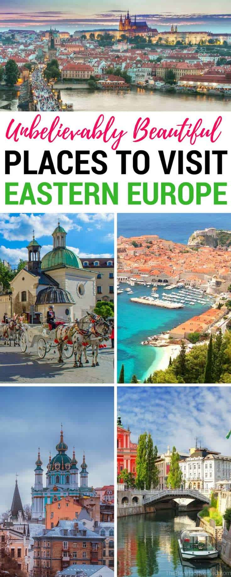 Beautiful places to visit in Eastern Europe. Have you always wanted to visit Eastern Europe, but didn't know where to start? Here are our very favorite picks for the best Europe travel destinations, like Prague, Czech Republic, Mostar, Bosnia and Herzegovina, and Belgrade, Serbia! #europe #europeancountries #travel #traveltips #Prague
