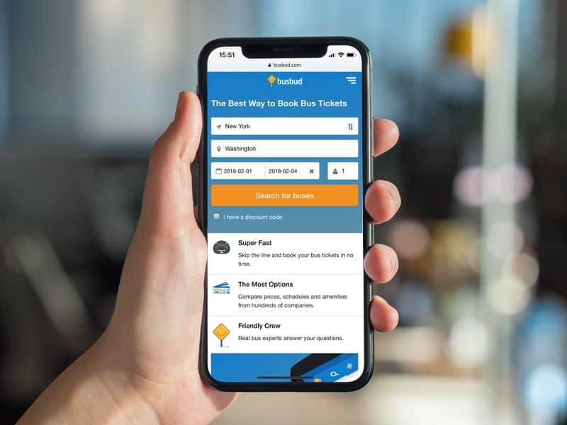 The Busbud app