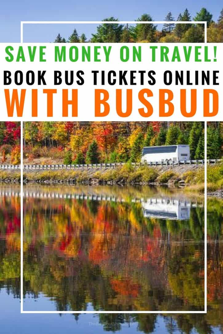 The easy way to save money traveling or backpacking by using Busbud to book bus tickets online #travel #traveltips