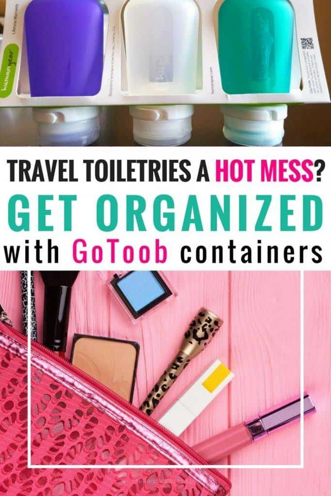 Are you travel toiletries a hot mess? I got organized with these cute little GoToob travel accessories containers.
