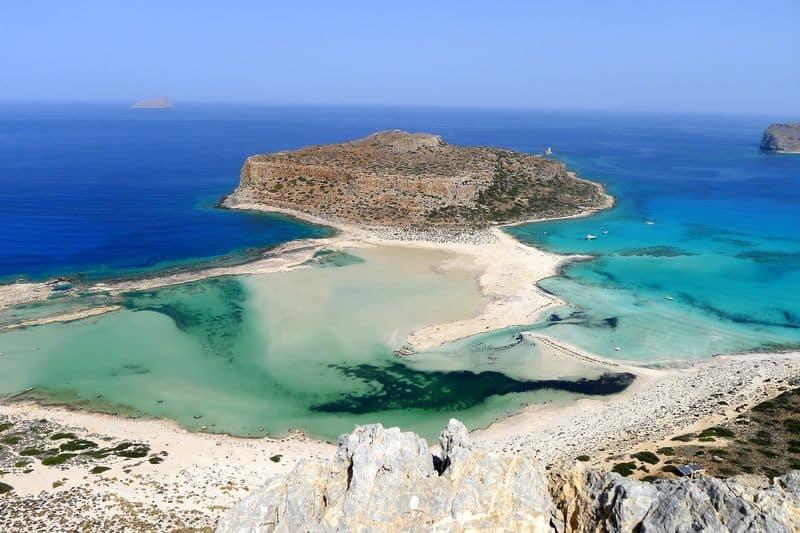 Balos Beach and Lagoon in Kissamos Crete Greece pxaby