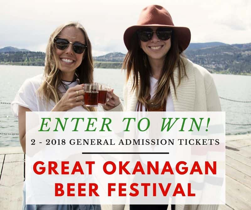 Enter to win 2 general admission tickets to the 2018 Great Okanagan Beer Festival